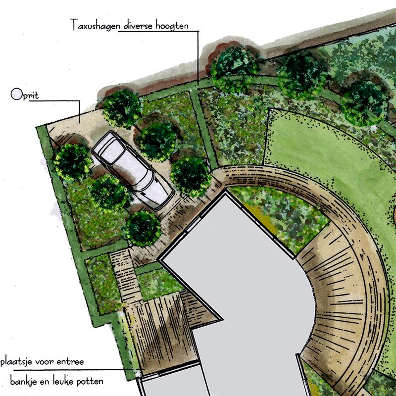 Qualitas exsto ontwerp advies buro tuinontwerp for Oprit ontwerp